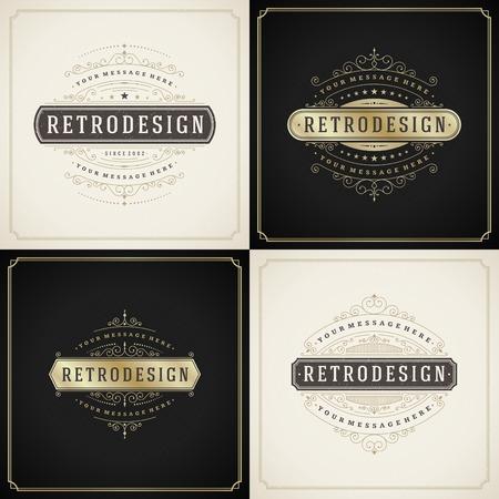 Vintage-Schmuck Gold-und Grunge-Stil, Grenze Rahmen Dekoration, gedeiht kalligraphischen Zier wirbelt für Postkarten, Etiketten, Einladungen, Plakaten, Abzeichen. Vector Hintergrund.