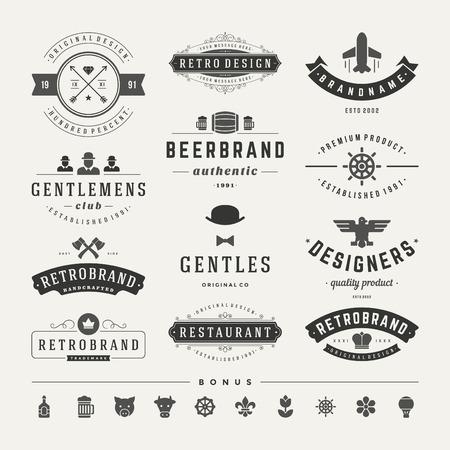 insignias: Retro Vintage Insignias or icon set.