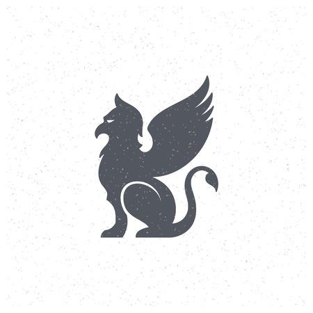 hunchback: Gargoyle Design Element in Vintage Style. Illustration