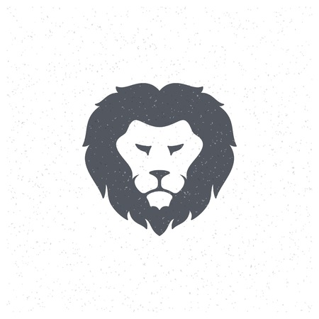 lion face: Lion face Design Element in Vintage Style for icon.
