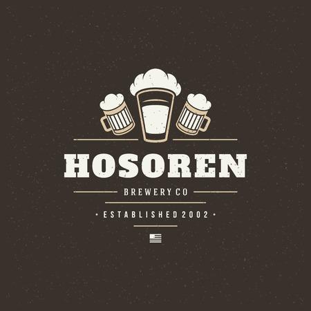 beer label: Beer Design Element in Vintage Style