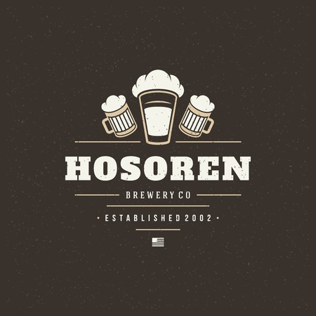 Beer Design Element in Vintage Style