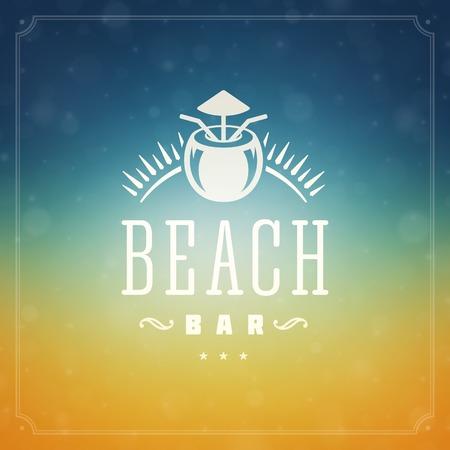 de zomer: Zomervakantie posterontwerp. Mooie wazig zon gloeiende bokeh licht en typografie bericht vector achtergrond.