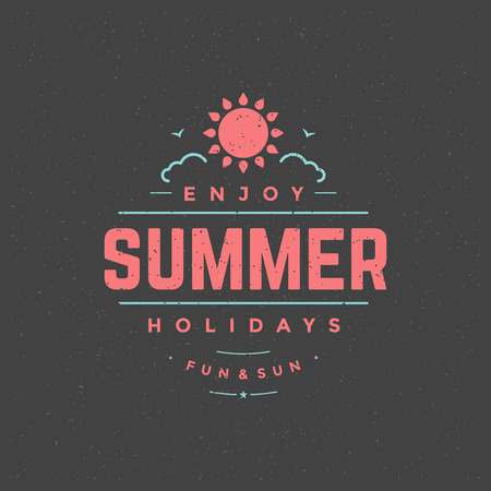 typography: Summer holidays typography for poster Illustration