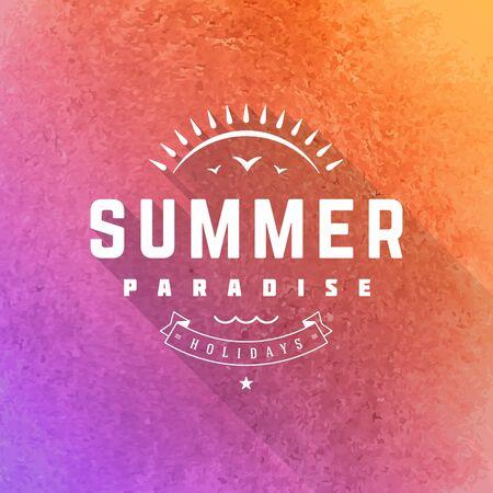 Summer holidays poster design.  Vector
