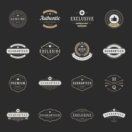 best quality: Retro Vintage Premium Quality Labels set.