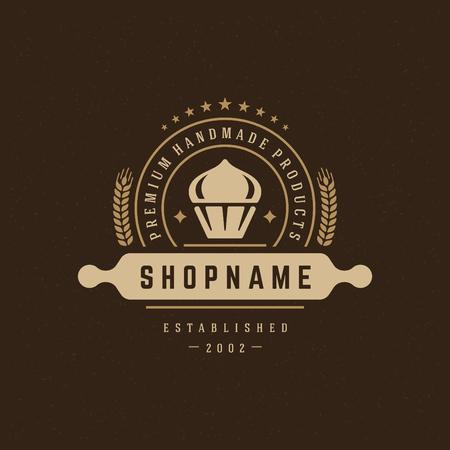 insignias: Panadería elemento de diseño en estilo vintage