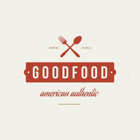 cuchara: Restaurante Tienda elemento de diseño en estilo vintage