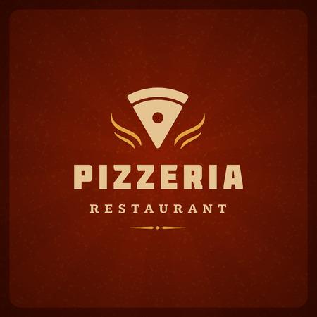 pizzeria label design: Pizzeria Restaurant Shop Design Element