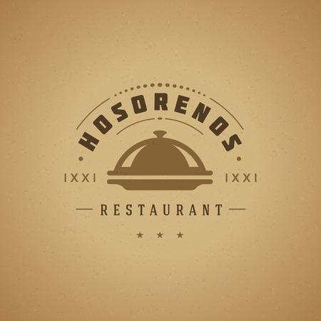 sticker design: Restaurant Cloche Design Element in Vintage Style
