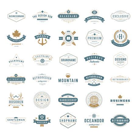 vendange: Retro Vintage Insignes Illustration