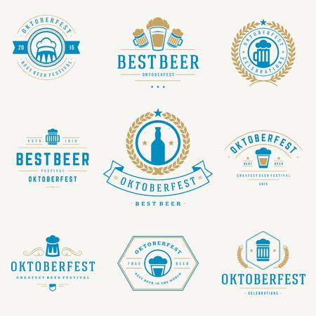 octoberfest: Etiquetas de estilo retro Vectores
