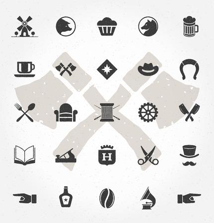 retro design graphic design coffee shop logos badges and labels design elements set cup