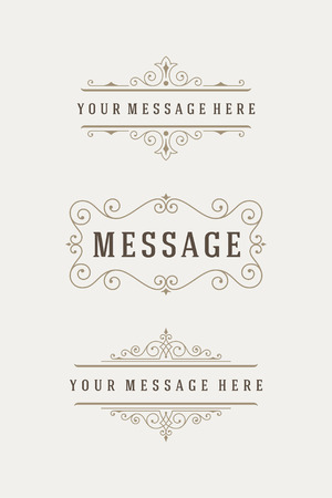 logotypes: Vintage Vector Ornaments Decorations Design Elements. Flourishes calligraphic combinations retro design for Invitations, Posters, Badges, Logotypes and other design.