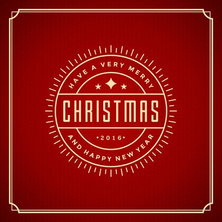 new message: Christmas retro typography and ornament decoration. Merry Christmas holidays wish greeting card and vintage background. Happy new year message. Vector illustration.