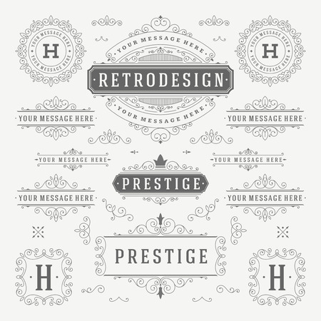 floral swirls: Vintage Vector Ornaments Decorations Design Elements. Flourishes calligraphic combinations retro for Invitations, Restaurant Menu, Royalty, Typography, Quotes, Greeting cards, Certificate and other.