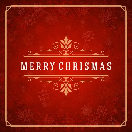 christmas snowflakes: Christmas greeting card lights and snowflakes vector background. Merry Christmas holidays wish message typography design and decorations. Vector illustration.