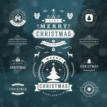 christmas wishes: Christmas Decorations Vector Design Elements. Typographic elements, Symbols, Icons, Vintage Labels, Badges, Frames, Ornaments set. Flourishes calligraphic. Merry Christmas and Happy Holidays wishes.
