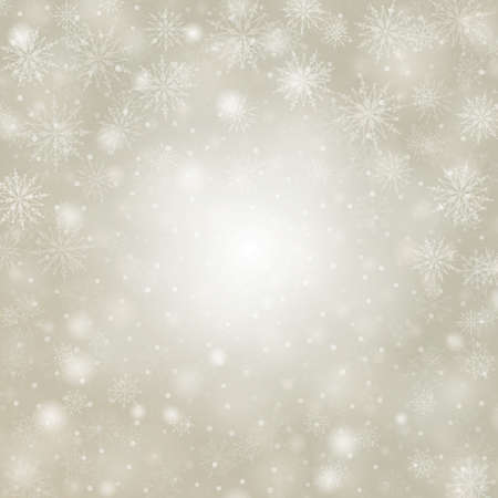beige background: Christmas background snowflakes with lights vector illustration Illustration
