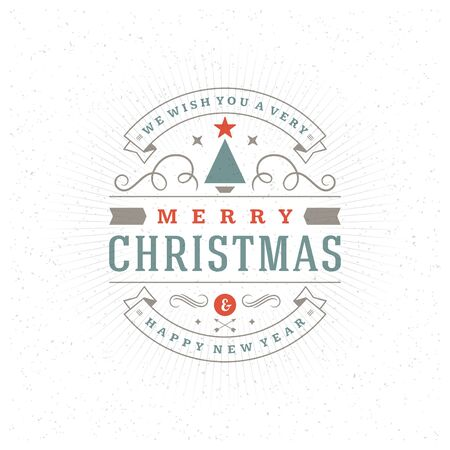 happy holidays: Merry Christmas Greeting Card and Ornament Decoration Vector Background. Happy new year message, Happy holidays wishes.