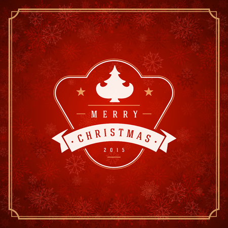 merry: Merry Christmas greeting card lights and snowflakes vector background. Christmas holidays wish message typography design and decorations. Vector illustration. Illustration