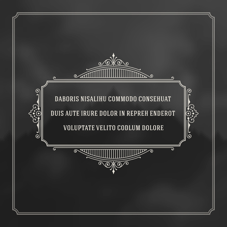 frame  box: Vintage Ornament Quote Marks Box Frame Vector template design and place for text. Retro flourishes frame style. Illustration
