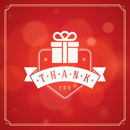 merci: Thank You Typographie message Vintage mod�le de conception de cartes de v?ux. Bokeh fond vecteur de lumi�re. Merci Carte Note, Merci Contexte. Illustration
