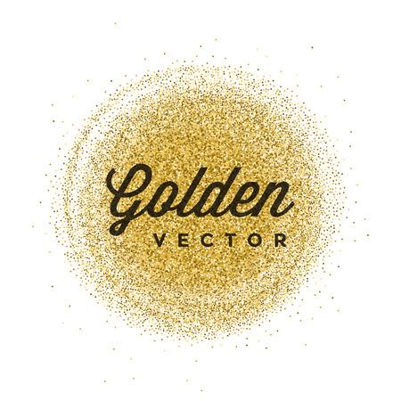 Goud Glitter Sparkles Bright Confetti witte vector achtergrond. Goed voor groet Gold Cards, Uitnodiging Luxe, Reclame, Voucher, certificaat, Banners, Quote Mark tekst. Gouden textuur, Shiny Gold.