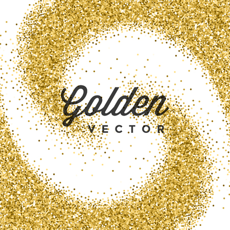 golden texture: Gold Glitter Sparkles Bright Confetti white vector background. Good for Greeting Gold Cards, Luxury Invitation, Advertising, Voucher, Certificate, Banners, Quote Mark Text. Golden Texture, Shiny Gold.
