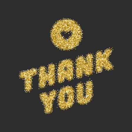 te negro: Thank You Typography Message Vintage Greeting Card design template. Gold Texture paint stain Retro vector background. Golden Texture, Shiny Gold, Gold Glitter Sparkles Bright Confetti.