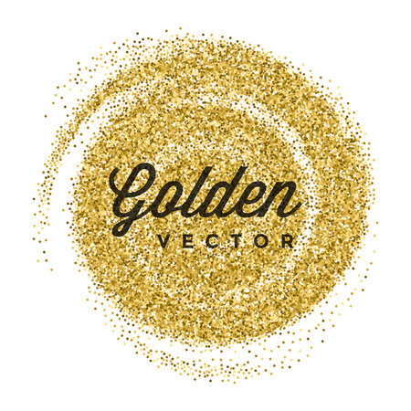 shiny gold: Gold Glitter Sparkles Bright Confetti white vector background. Good for Greeting Gold Cards, Luxury Invitation, Advertising, Voucher, Certificate, Banners, Quote Mark Text. Golden Texture, Shiny Gold.