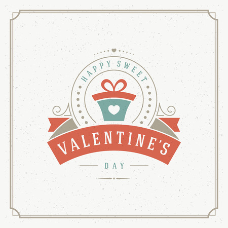 valentino: Happy Valentines Day Greeting Card or Poster Vector illustration. Retro typography design and texture background. Happy Valentines Day background, Valentine Card, Love Heart. Illustration