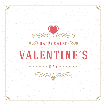 valentino: Valentines Day Greeting Card or Poster Vector illustration. Retro typography design and texture background. Happy Valentines Day background, Valentine Card, Love Concept, Valentines label.