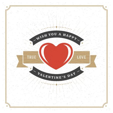 valentino: Valentines Day Greeting Card or Poster Vector illustration. Retro typography design and texture background. Happy Valentines Day background, Valentine Card, Love Concept, Valentine label.