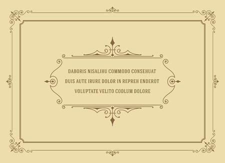 Ornement vintage Quote Marks Box modèle de conception Vector frame et place pour le texte. Rétro fleurit style de cadre. Citation de conception, offre conception, fond Vintage, Vintage Frame, Ornement Vintage. Vecteurs