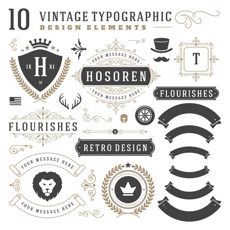 classical: Vintage Design Elements. Illustration