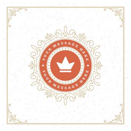 accents: Royal   Design Template. Flourishes calligraphic elegant ornament lines.