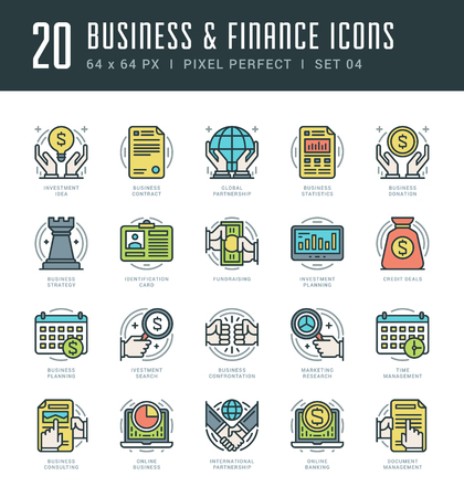 business mobile: Line icons set. Trendy Modern flat thin linear stroke vector Business and Finance concept. For website graphics, Mobile Apps, Infographics design, Brochures. Outline pictogram pack.