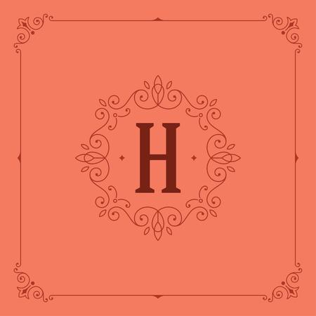 boutique: Royal  Design Template Vector Decoration. Flourishes Calligraphic Elegant Ornament Lines. Luxury Crest, Ornament Frame, Vintage Label,  Boutique Sign, Monogram, Cerificate Graphics, Border.