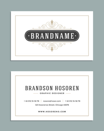 Vintage ornament business card vector template retro luxury vintage ornament business card vector template retro luxury logo royal design flourishes frame colourmoves