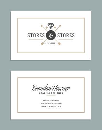 frame old: Business Card Design and Retro Logo Template. Vector Design Element Vintage Style for Logotype, Label, Badge, Emblem. Logo Symbol, Retro Logo, Business Card Template. Illustration