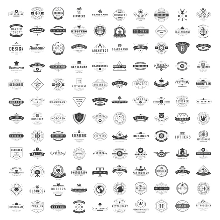 Vintage Logos Design Templates Set.