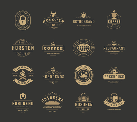 cow vector: Vintage   Design Templates Set, Vector Design Elements.   Elements,   symbols,   Icons,   Vector, Symbols Design, Retro  . Cow Head  , Coffee Label, Ornaments Line, Lock Icon.