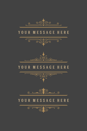 text books: Vintage Ornaments Decorations Design Elements and Place For Text. Flourish calligraphic combinations retro design. For Menu Design, Invitations, Posters, Books, Greeting cards. Frames and scrolls set.