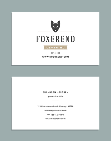 royal background: Business Card Design and Retro Style   Template. Vector Design Element Vintage Style for Label. Business Card Template.