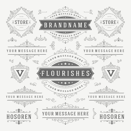 ornaments vector: Vintage Vector Ornaments Decorations Design Elements. Flourishes calligraphic combinations Retro  , Royal Greeting cards,Crest Ornament Frames, Invitations.