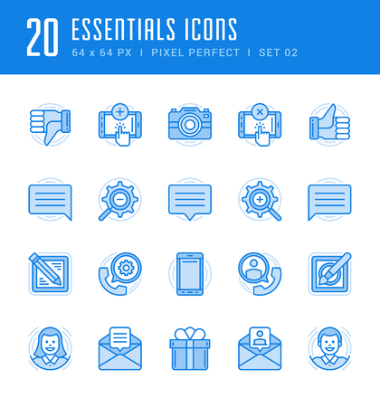 photo: Line icons set. Flat thin linear stroke vector Essentials objects concepts. For website graphics, Mobile Apps, Infographics. Pictogram pack. Stock Photo