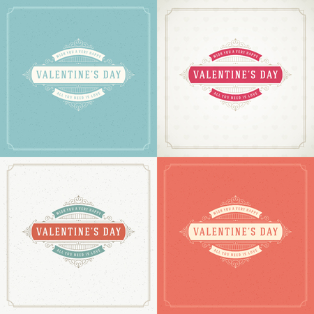 valentino: Happy Valentines Day Greeting Cards or Posters Set