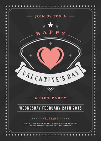 dancing club: Happy Valentines Day Party Invitation or Poster