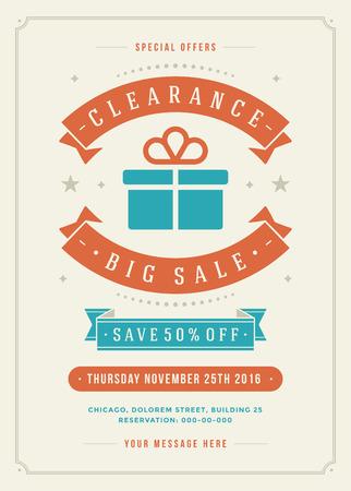 Verkauf Flyer oder Poster Design Discount-Angebote und Hintergrund. S